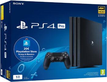 Sony Playstation 4 Pro (PS4) Consola de 1TB + 20 euros Tarjeta Prepago - nuevo chasis G